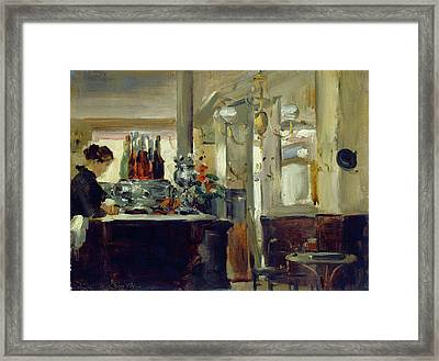 Bon Bock Cafe Framed Print