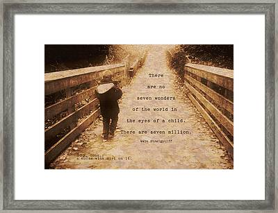 ' Boy - A Noise With Dirt On It.' Framed Print