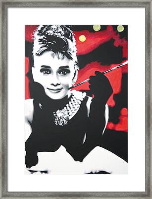 - Breakfast At Tiffannys -  Framed Print by Luis Ludzska