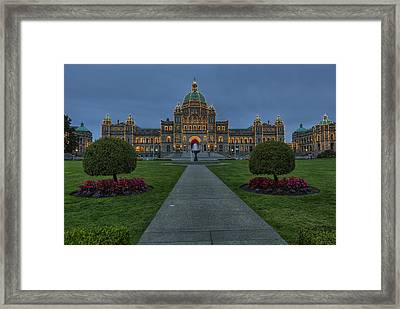 British Columbia Parliament Buildings Framed Print by Mark Kiver