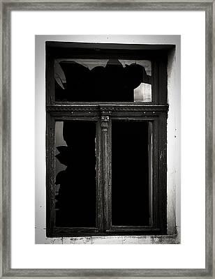 Broken Window Framed Print by Calinciuc Iasmina