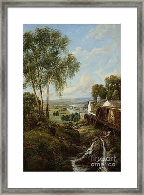 Bucolic Scene Framed Print by MotionAge Designs