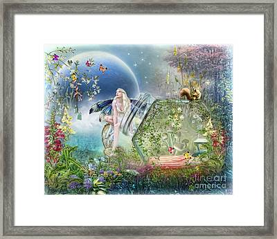 Framed Print featuring the digital art  Butterfly Fairy by Trudi Simmonds