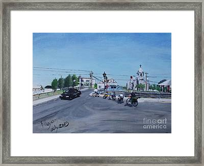 Family Cycling Tour Framed Print by Francine Heykoop