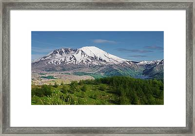 Castle Lake And Mt. St. Helens Framed Print by Ansel Price