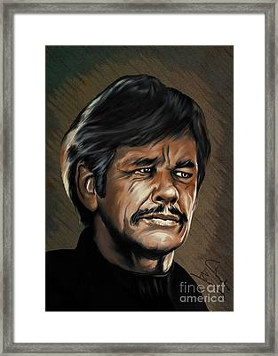 Framed Print featuring the painting  Charles by Andrzej Szczerski