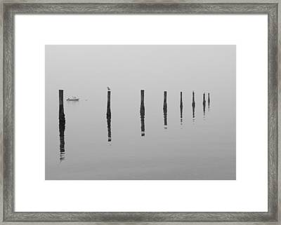 Fog And Reflections Framed Print