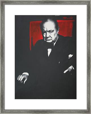 - Churchill - Framed Print by Luis Ludzska
