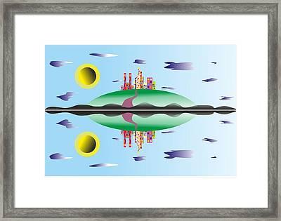 City - My Www Vikinek-art.com Framed Print