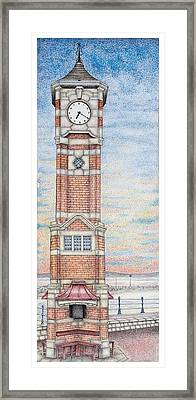 Clock Tower  Morecambe  Lancashire Framed Print by Sandra Moore