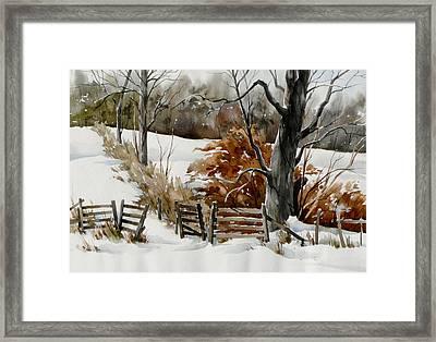 Cold Gate Framed Print by Art Scholz