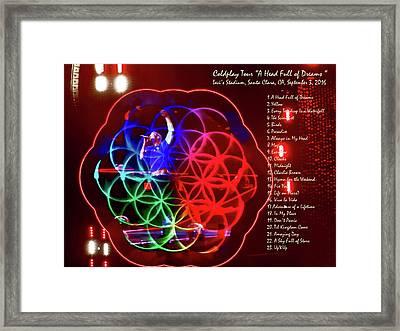 Coldplay - A Head Full Of Dreams Tour 2016 -  At Santa Clara Ca  Framed Print by Tanya Filichkin