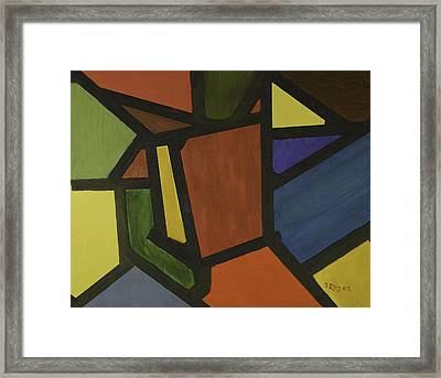 Color Shapes Framed Print