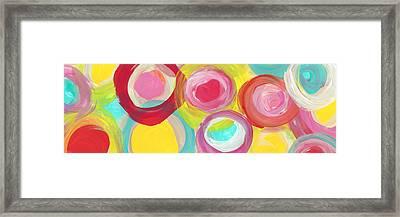 Colorful Sun Circles Panoramic Horizontal Framed Print