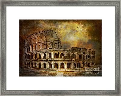 Colosseum Framed Print by Andrzej Szczerski