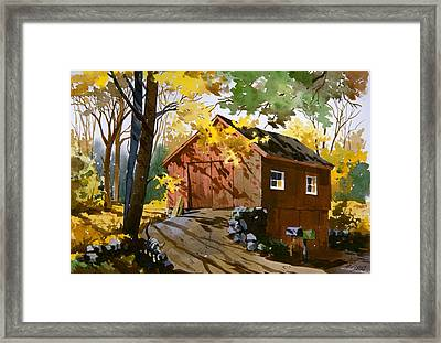 Country Cat    Framed Print by Art Scholz
