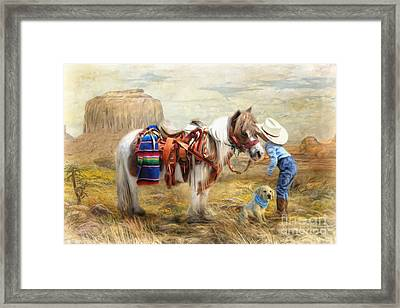 Cowboy Up Framed Print by Trudi Simmonds