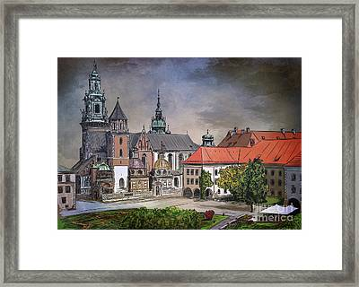 Framed Print featuring the painting  Cracow.world Youth Day In 2016. by Andrzej Szczerski