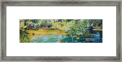 Creekside Framed Print by Lucinda  Hansen