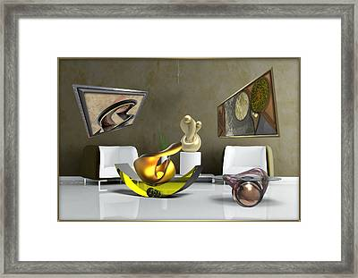 ' Cubrssrs - Tubehumanseedlings - Ball Box Intrigue - Kyscopic Table - Pearl ' Framed Print