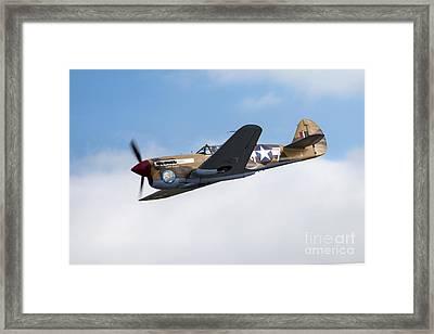 Curtiss P-40f Warhawk Framed Print by J Biggadike