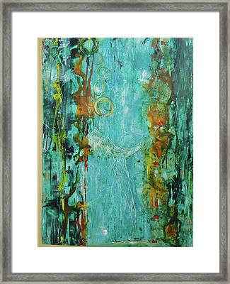 Dancing With Hoops Framed Print by Gail Butters Cohen