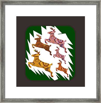 Deer Animal Cage Wild Exotic Crystal Stone Cutout Graphics Buy Or Download For Self Printing Framed Print