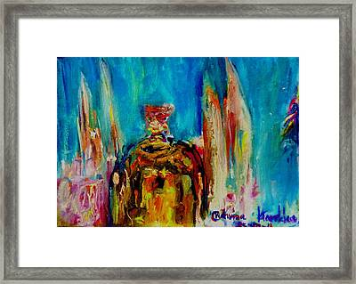 Democracy Monument Of Thailand Framed Print