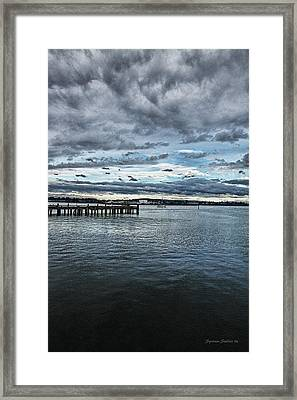 Dock In The Bay Framed Print by DMSprouse Art