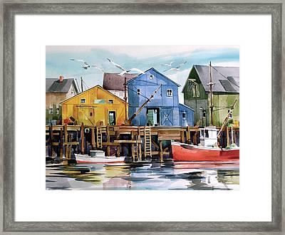 Dockside   Framed Print by Art Scholz