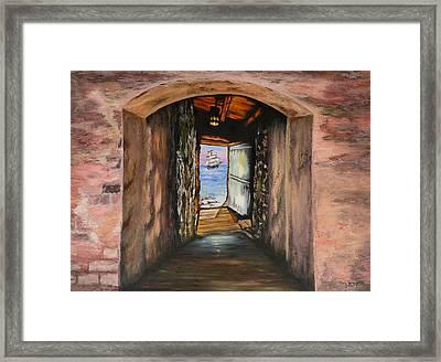 Door Of No Return Framed Print by Tony Vegas