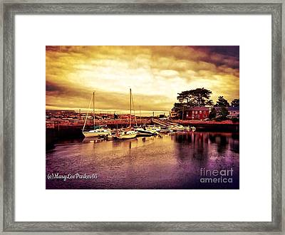 Down At The Dock Framed Print by MaryLee Parker