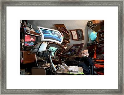 Dr. Tomorrow On Lsd Framed Print by Carl Purcell