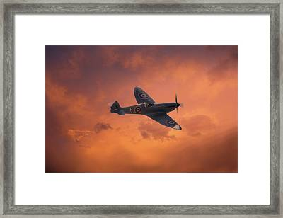 Dusk Sweep Framed Print by Dave Godden