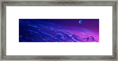 Framed Print featuring the painting  Earth Light Series Lights Off  by Len Sodenkamp