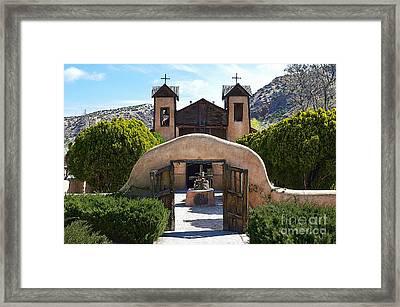 El Santuario De Chimayo In New Mexico Framed Print
