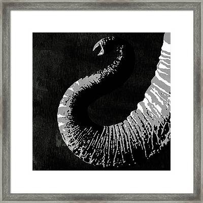 Elephant Animal Decorative Black And White Wall Poster 1 Framed Print