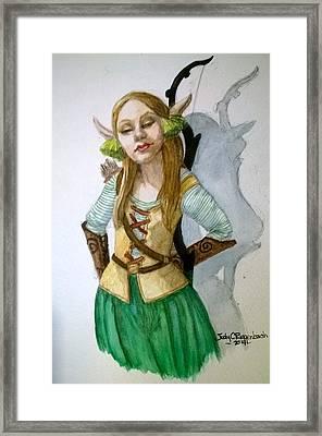 Elven Archer Framed Print