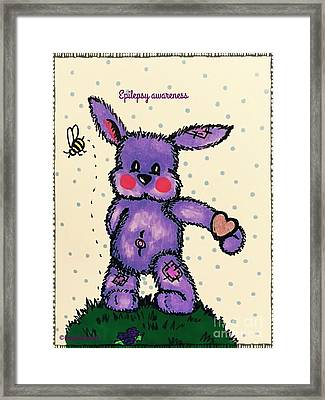 Epilepsy Awareness Bunny Framed Print