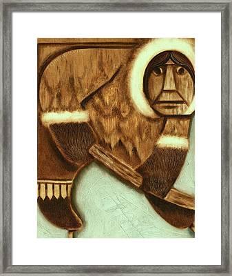 Tommervik Eskimo Hockey Player Art Print Framed Print by Tommervik
