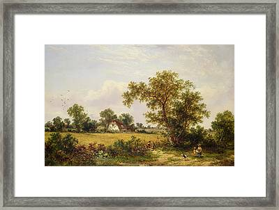 Essex Landscape  Framed Print by James Edwin Meadows