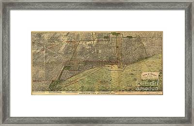 Eye View Of Chicago Framed Print by MotionAge Designs