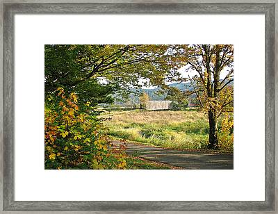 Fall At Grays River Covered Bridge Framed Print by Ansel Price