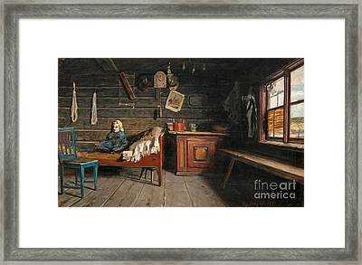 Farm-hands' Quaters At Louhisaari Manor Framed Print by Celestial Images