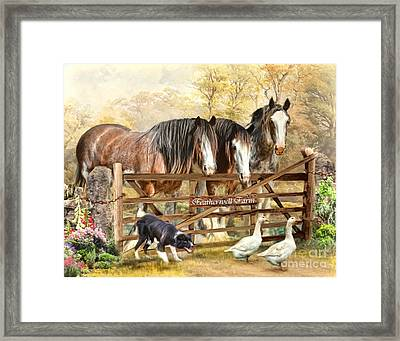 Featherwell Farm Framed Print