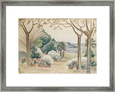 Femme Sur La Terrasse Framed Print by MotionAge Designs