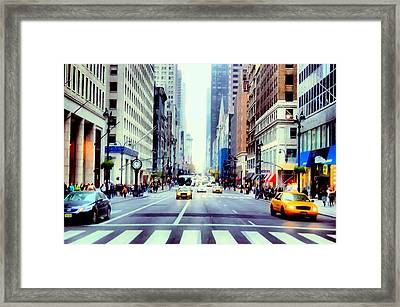 Fifth Avenue In Manhattan  Framed Print by Lanjee Chee