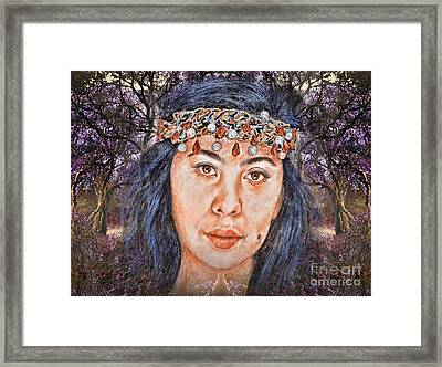 Filipina Beauty, Kaye Anne Toribio.in A Mystical Forest II Framed Print by Jim Fitzpatrick