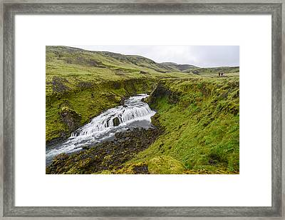 Fimmvorduhals Waterfall Framed Print