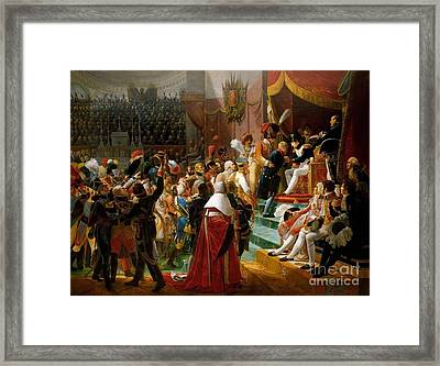 First Distribution Of The Legion Of Honor Framed Print